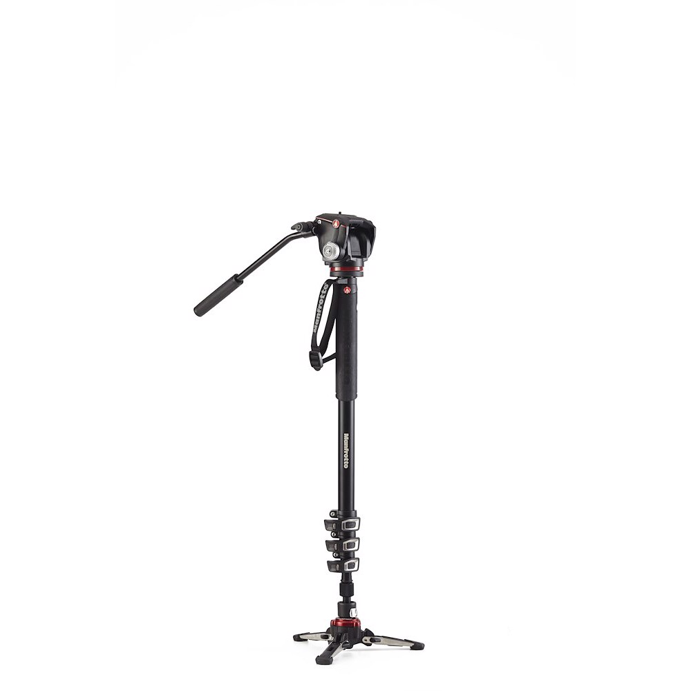 Manfrotto XPRO Monopod+ Four-Section Alu w/ Two-Way Head